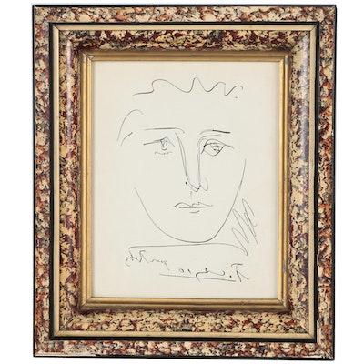 "Restrike Etching after Pablo Picasso ""L'Age du Soleil (Pour Roby)"""