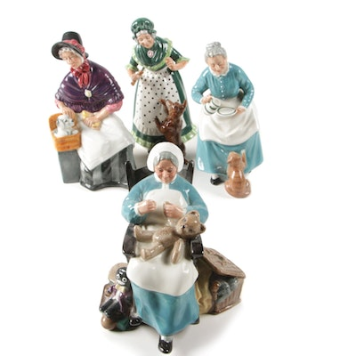 "Royal Doulton ""Old Mother Hubbard"" Porcelain Figurine and More"