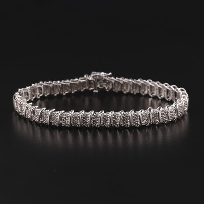 10K White Gold 3.22 CTW Diamond Bracelet