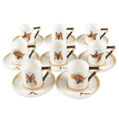 "Royal Doulton ""Reynard the Fox"" Bone China Cups and Saucers"
