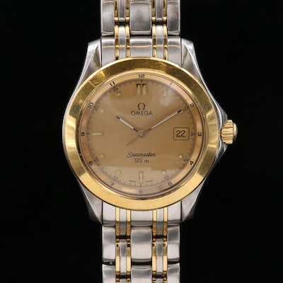 Omega Seamaster 120 Stainless Steel and 18K Gold Quartz Wristwatch, 1993