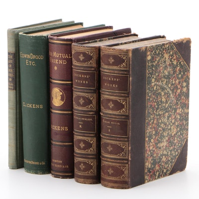 """Novels by Charles Dickens Including First Edition """"The Life of Our Lord"""""""