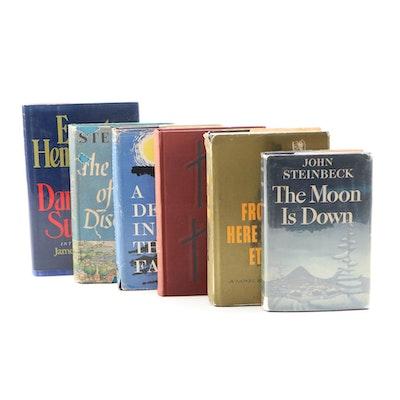 Award Winning Authors including Steinbeck, Hemingway, Agee, Jones and Faulkner