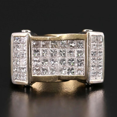 14K Yellow Gold 2.52 CTW Diamond Ring with White Gold Accents