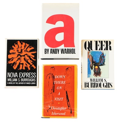 First Edition Novels by Burroughs, Isherwood, and Warhol