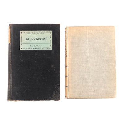"1925 First Edition ""Behaviorism"" by Watson with ""Psychoanalysis"" by Freud"