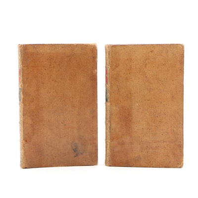 "1770 Leather Bound ""Leonidas: A Poem"", Two Volumes"