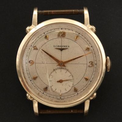 Vintage Longines Anniversary 14K Gold Automatic Wristwatch, 1951