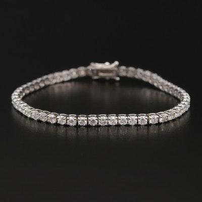 14K White Gold 5.25 CTW Diamond Line Bracelet
