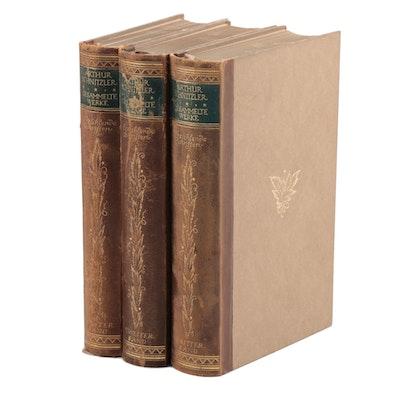 """""""Gesammelte Werke: Die erzählenden Schriften"""" by Arthur Schnitzler, 1914"""