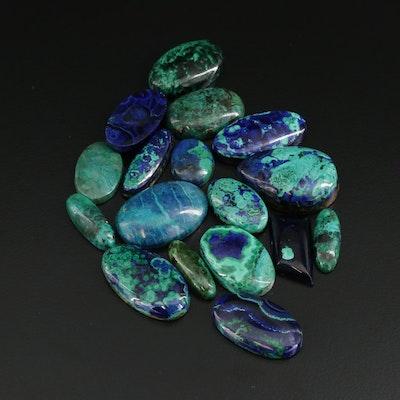Loose Azurmalachite Gemstones