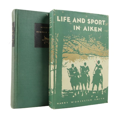 "Hunting Books Featuring Signed ""Sport in Norfolk County"" by Allan Forbes, 1938"