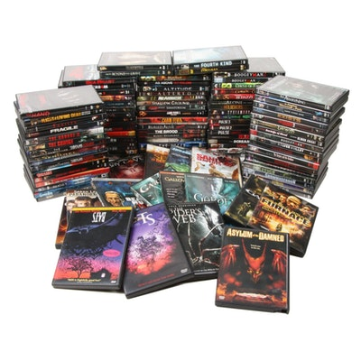 """Horror, Thriller, and Sci-Fi DVDs Including """"Resident Evil Series"""" and Others"""