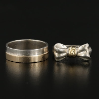 Sterling Silver Bow Ring and Band