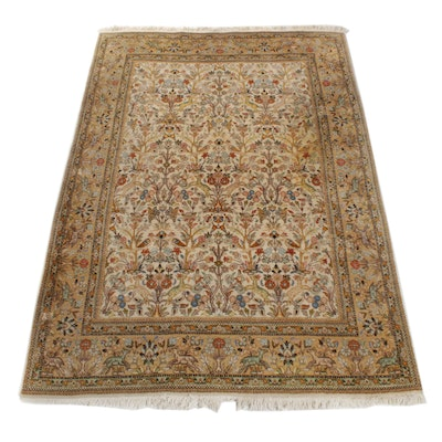 5'10 x 9'4 Hand-Knotted Persian Tabriz Pictorial Rug