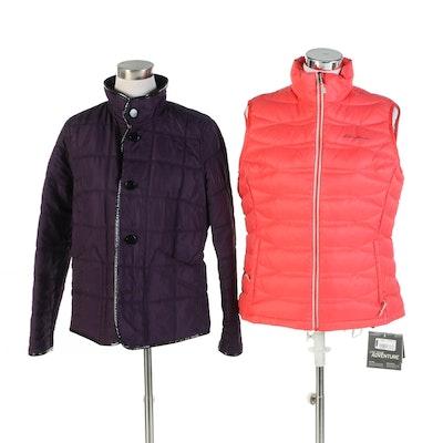 Eddie Bauer Vest and Charter Club Reversible Jacket