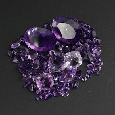 Loose 133.60 CTW Amethyst Gemstones