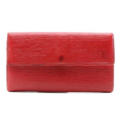 Louis Vuitton Castilian Red Epi Leather Sarah Wallet