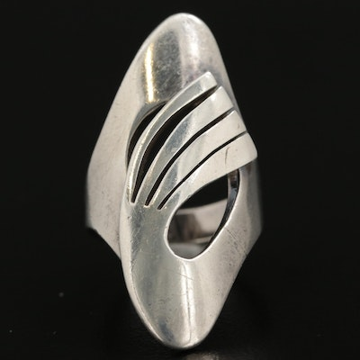 Mexican Sterling Silver Pointer Ring