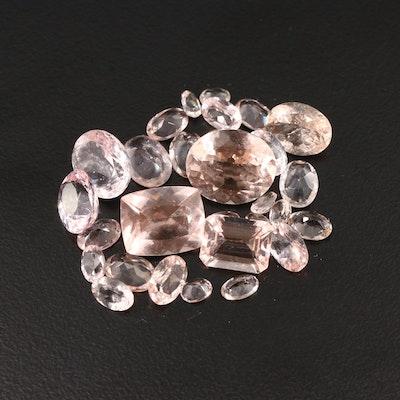 Loose 24.80 CTW Morganite Gemstones