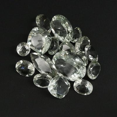 Loose 88.0 CTW Prasiolite Gemstone Selection