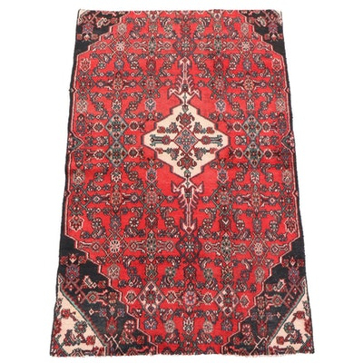4'4 x 7'2 Hand-Knotted Persian Gogarjin Wool Rug