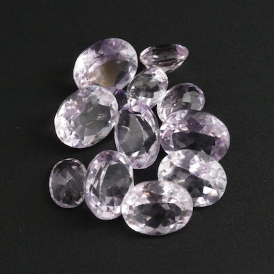 Loose 30.87 CTW Oval Faceted Amethyst and Kunzite Gemstones