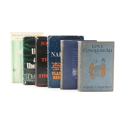 Fiction Books Including Vladimir Nabokov, Thomas Wolfe, and Émile Zola