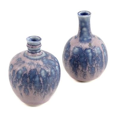 Art Pottery Miniature Porcelain Bud Vases
