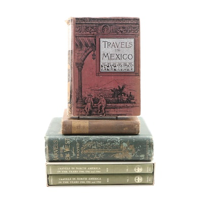 """Marvels of the New West"" and ""Travels in Mexico"" with Additional Travel Books"