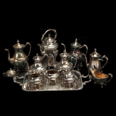 Silver Plate Tea Serveware By Sheridan, Leonard, International, and More