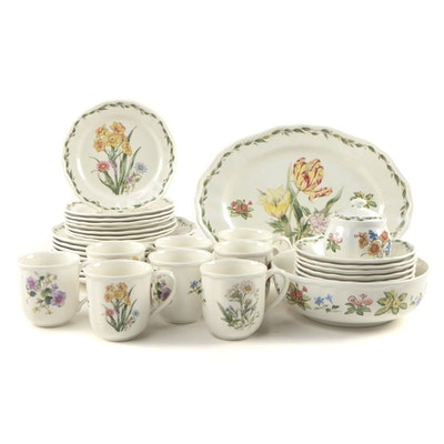 "Noritake ""Gourmet Garden"" Porcelain Dinnerware, Late 20th Century"