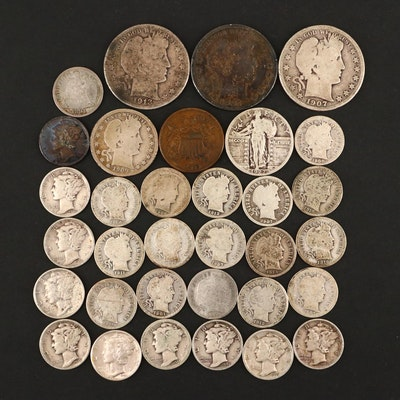 American Coin Selection Featuring 1891 Seated Liberty Silver Dime