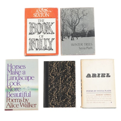 """Poetry Books Featuring Signed """"Horses Make a Landscape"""" by Alice Walker"""