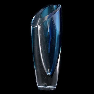 "Göran Wärff for Kosta Boda ""Mirage"" Art Glass Vase in Blue"