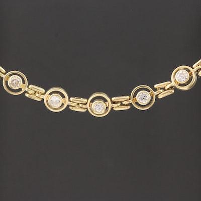 18K Yellow Gold 1.02 CTW Diamond Necklace
