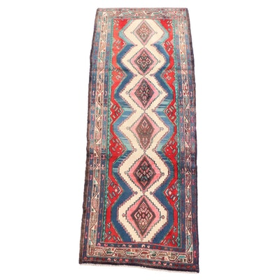 3'3 x 9'3 Hand-Knotted Persian Shiraz Luri Wool Long Rug