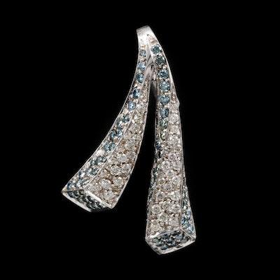 14K White Gold 2.32 CTW Diamond Pendant