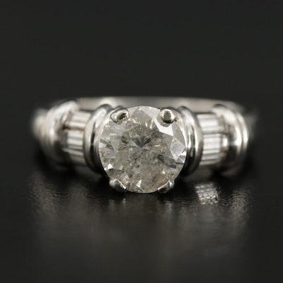Platinum 1.75 CTW Diamond Ring