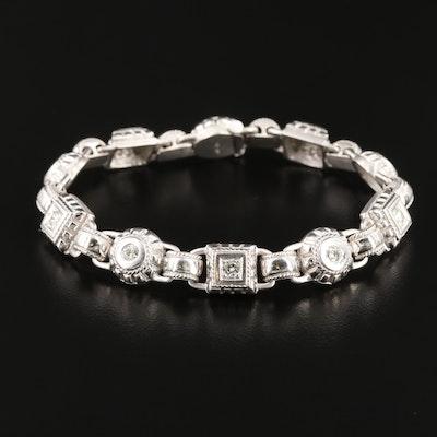 Penny Preville 18K White Gold 1.22 CTW Diamond Bracelet