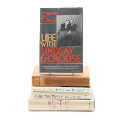 "Signed First Edition ""Life with Lindsay & Crouse"" by Skinner with Other Volumes"