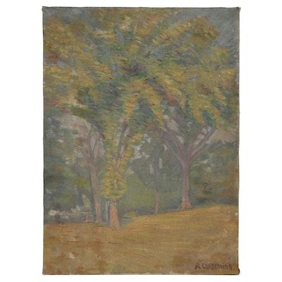 Edwin Willard Deming Landscape Oil Painting, Early 20th century