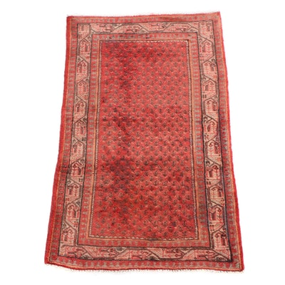 3'5 x 5'4 Hand-Knotted Persian Mir Serabend Wool Rug
