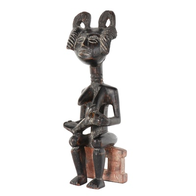 West African Style Carved Wooden Maternity Figure
