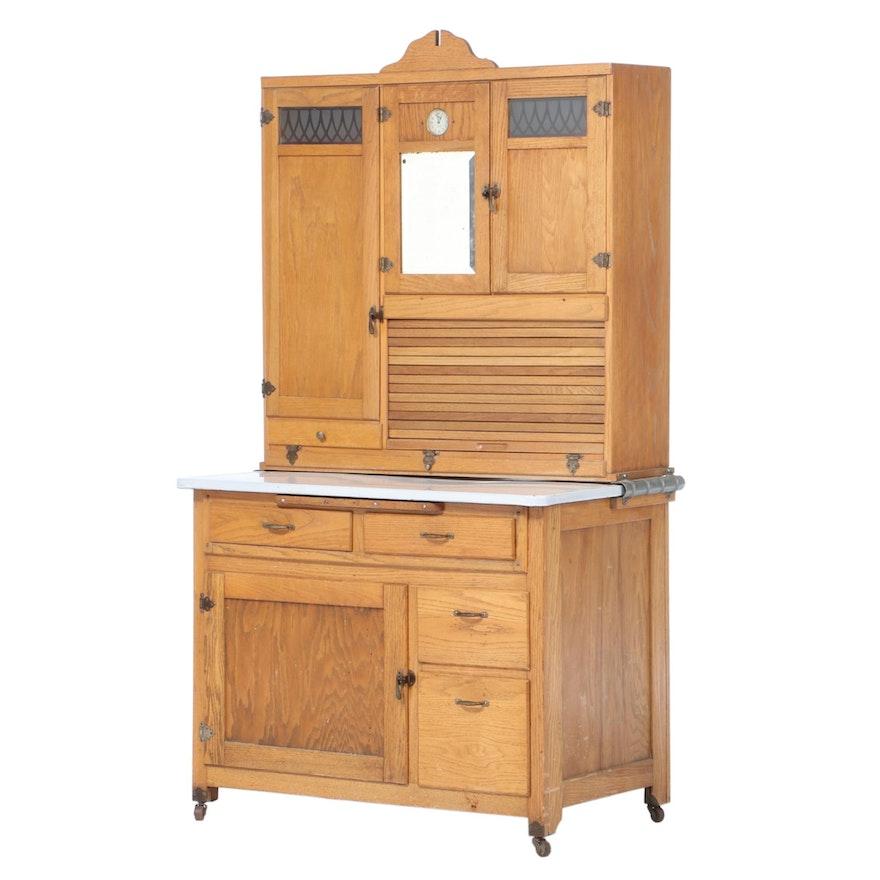 Boone Kitchen Cabinet Company Oak Hoosier-Style Cabinet ...