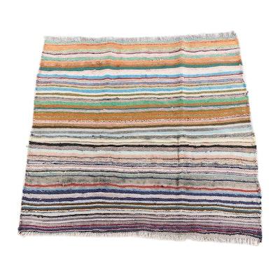 5'2 x 5'1 Handwoven Persian Berber Style Wool Rug