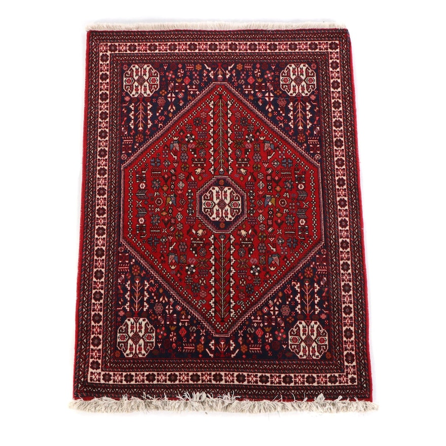 3'6 x 5'3 Hand-Knotted Persian Arbadeh Wool Rug