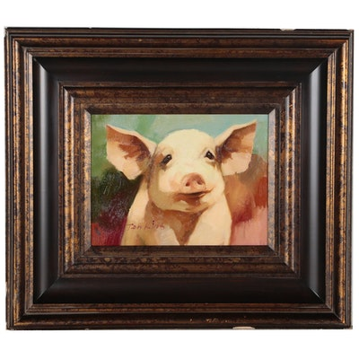 Jenkins Oil Portrait of Pig