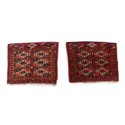 1'5 x 1'4 Hand-Knotted Persian Turkmen Tekke Bokhara Face Bags