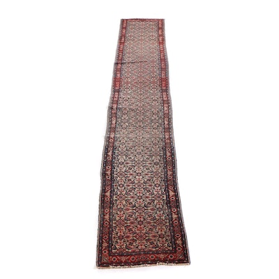 2'9 x 21'4 Hand-Knotted Persian Hamadan Wool Carpet Runner